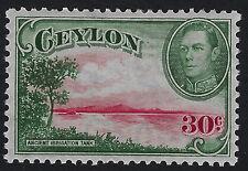 CEYLON : 1938 30c carmine & green sideways wmk   SG 393 mint