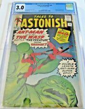TALES TO ASTONISH #44 (1ST WASP, ORIGIN) HUGE MEGA MARVEL KEY ISSUE CGC 3.0 NICE