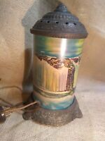 Antique Cast Iron Niagara Falls Motion Lamp, Scene in Action Corp Chicago