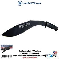 Smith & Wesson #SWBH Outback Kurki Machete Full Tang Knife, w/ Nylon Sheath