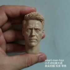 Custom 1//6 SCALA Tony Stark Robert Downey Jr TESTA SCOLPIRE per corpo Hot Toys