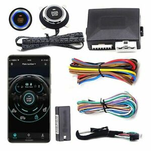 Smart Phone Engine Start Car Start Stop Button Ignition System Auto Central Lock
