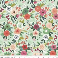 On Trend Main Mint Riley Blake Fabric FQ 50cm X 55cm +More 100% Cotton