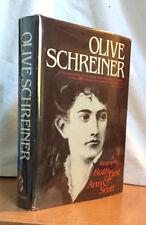 OLIVE SCHREINER - A Biography by RUTH FIRST & ANN SCOTT (Hardcover - Africana)