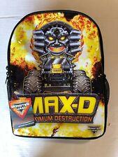 Monster Jam Boys Action Backpack Max Destruction Book Bag Back to School