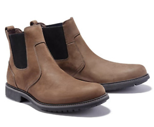 Size 10.5 || Timberland Boots || Men's Dark Brown Leather RRP £140 Chelsea Shoes