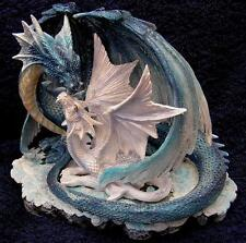 Nemesis Now MOTHER'S / MOTHERS LOVE    BLUE DRAGON SCULPTURE Gothic Figurine