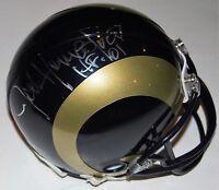 JACK YOUNGBLOOD signed (LOS ANGELES RAMS) mini football helmet W/COA *PROOF*