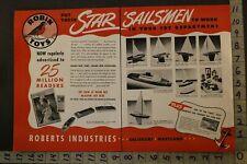 1946 Sailboat Clipper Cruiser Nautical Tug Roberts Salisbury 2-pg Toy Ad Tn42
