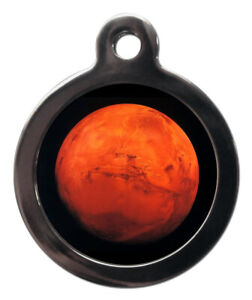 Pet ID tag planet MARS The red planet Personalised Tag or Keyring 2 sizes