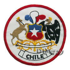 Chile Patch Embroidered Flag Sew or Iron on Patch National Emblem Patches
