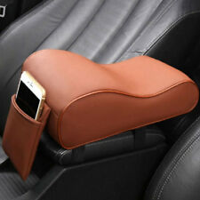 Leather Car SUV Center Box Armrest Console Soft Pad Cushion Cover Brown For Audi