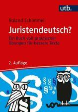 Juristendeutsch? Schimmel, Roland Taschenbuch