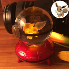 Pokeball Crystal Ball Eevee Pokemon 3D LED Night Light Table Lamp Christmas Gift