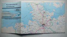 Prospekt Ford Kundendienstlandkarte Deutschland, 3.1966, 32 Seiten, folder