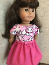 18 inch doll kitty dress with matching vest