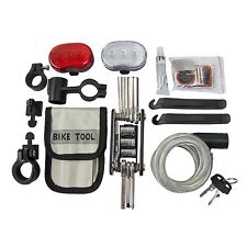 Amtech Bicycle Accessory Repair Kit Flashlight Cable Lock Puncture bike light