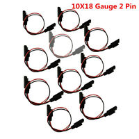 10 Pack 18 Gauge 2 Pin Quick Disconnect Wire Harness SAE Connector For Car Truck