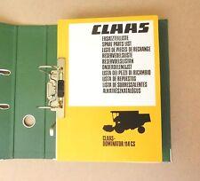 CLAAS  Dominator 114 CS  Ersatzteilliste Mähdrescher 1985