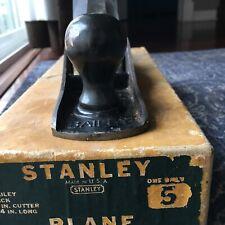 Stanley bailey No. 5 In Orginal Box NOS Type 18
