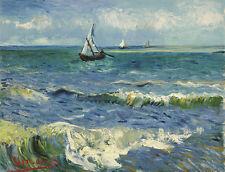 Seascape near Les Saintes-Maries-de-la-Mer Vincent van Gogh Segelboot B A3 03303