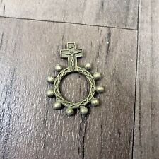 AUTHENTIC VINTAGE ITALY ROSARY RING