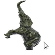 Happy Elephant Lucky Trunk Up Bronze Sculpture Statue FigurineBM