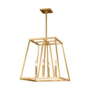 Feiss Conant 4-Light Gilded Satin Brass Chandelier