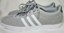 New w/ Tag Womens Size 8 Adidas Grey Suede Sneakers, Courtset Ortholite Float