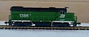 Atlas Trainman n scale: GP-15 Burlington Northern #1386 - DCC