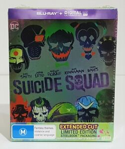 Suicide Squad Blu-ray Limited Edition Steelbook 2-Disc Set - Brand New & Sealed