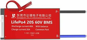 LiFePO4 BMS PCB 20S 60V 40A Daly Balanced Waterproof Battery Management System