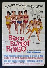 BEACH BLANKET BINGO * CINEMASTERPIECES SURFING OCEAN MOVIE POSTER 1965