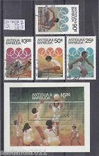 ANTIGUA & BARBUDA Y 731 / 734 + BL. 74 OLIMPIC GAMES LOS ANGELES 1984, USED  B80
