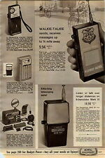 1965 AD Walkie Talkie Transistor Radio Crystal Piano Schoenhut Toy Spacephone