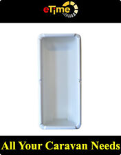 WHITE Fire Extinguisher Box for Caravan Motorhomes