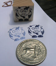 P24  Cow miniature rubber stamp WM