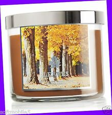 Bath & Body Works LEAVES Scented 3-Wick Filled Candle 14.5 oz