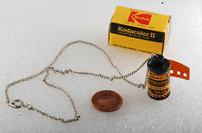 "Vintage Kodak Kodacolor 2 magazine Pendant With 16"" Quality Chain NOS In Box"