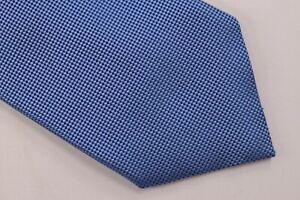 Ermenegildo Zegna NWT Neck Tie In ~Solid Textured Light Blue 100% Silk