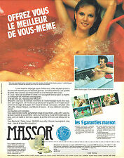 PUBLICITE ADVERTISING 015  1982  MASSOR   hydro- massage