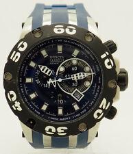 Mens Invicta 0906 Reserve Specialty II Scuba Blue Watch w/Blue Waterproof Case