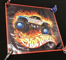 HOT WHEELS truck monster poster toy model banner vinyl sign race rally car A8A