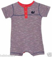 BABY BOY/GIRL'S SHORT SLEEVE&LEGS STRIPEY SUMMER ROMPER OUTFIT NB 0 3 6 9 12 18M