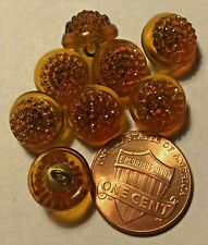 Sears brand 716 on Original Card 6 Vintage Orange Plastic Shank Buttons