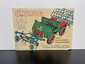 RARE Vintage 1955 MERCEDES BENZ UNIMOG Canada Limited Automobile SALES BROCHURE