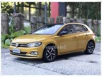 1:18 Scale VW Volkswagen All New Polo Plus 2019 Metal Diecast Car Model Gold