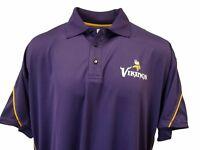 Minnesota Vikings Polo Style, Short Sleeve, Shirt, Men's BIG & TALL, Purple