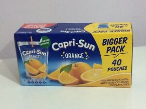 Orange Juice Drinks Capri-Sun No Artificial Colour or Flavours 40 x 200ml