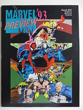 Marvel '93 Preview (March 1993) Magazine Spiderman X-Men Avengers (M844)